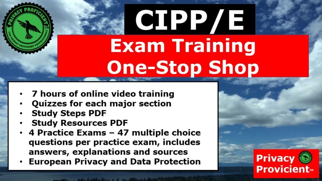 CIPP/E Exam Training One-Stop Shop